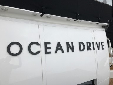 Ocean Drive Yacht Sign - Acrylic Fret Cut Lettering