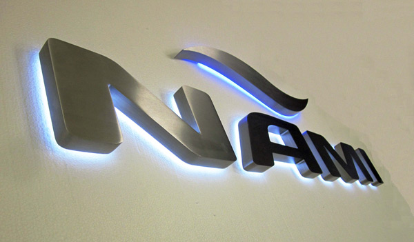 Nami Yacht Sign - Brushed stainless Steel 316 Grade